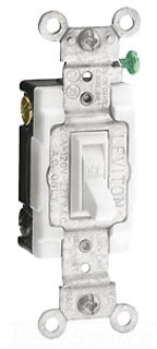 LEV 54521-2I 20-Amp, 120/277-Volt, Toggle Framed Single-Pole AC Quiet Switch, Commercial Grade, Grounding, Ivory cs=1