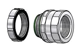 AMFICO AH75B 3/4 AMFICO Water Tight Steel Hub With Insulated Throat CS=20/100