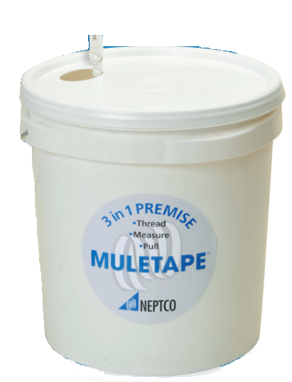 "NEP WP1800P/1300 5/8"" WIDE MULETAPE 1800LB PULL, 1300FT PAIL/BUCKET NEPWP1800P 3 IN 1 PREMISE 41325"
