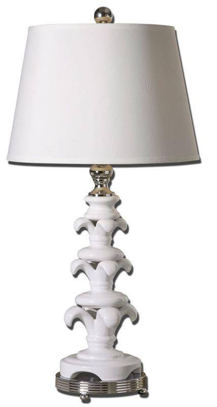 UTT 27485 150M-3WAY TABLE LAMP W/LINEN SHADE