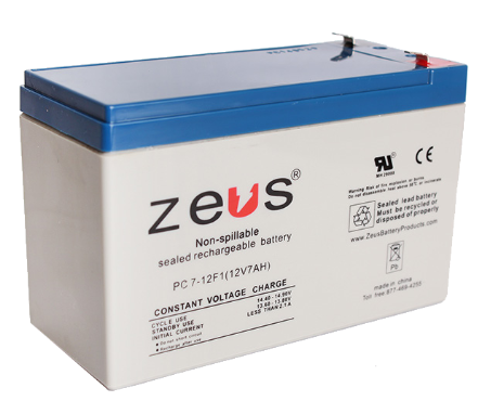 GUA 12V-7AH-SRB 12V 7A BATTERY #2 DG12-7 12V SEALED BATTERY GT026P4 NP ZEUS PC7-12F2 ZEUS PC7-12-F1(WITH F2 ADAPTORS) alt: PC7.2-12F2