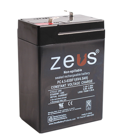 GUA 6V-4AH-SRB 6V 4A BATTERY #1 PS-640 6V BATTERY cs=25 GS012P3 NP ZEUS PC4.5-6XB