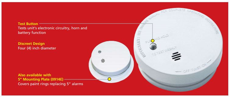 $KID 0914E Battery Only - Smoke Alarm CS=12 Model: i9040