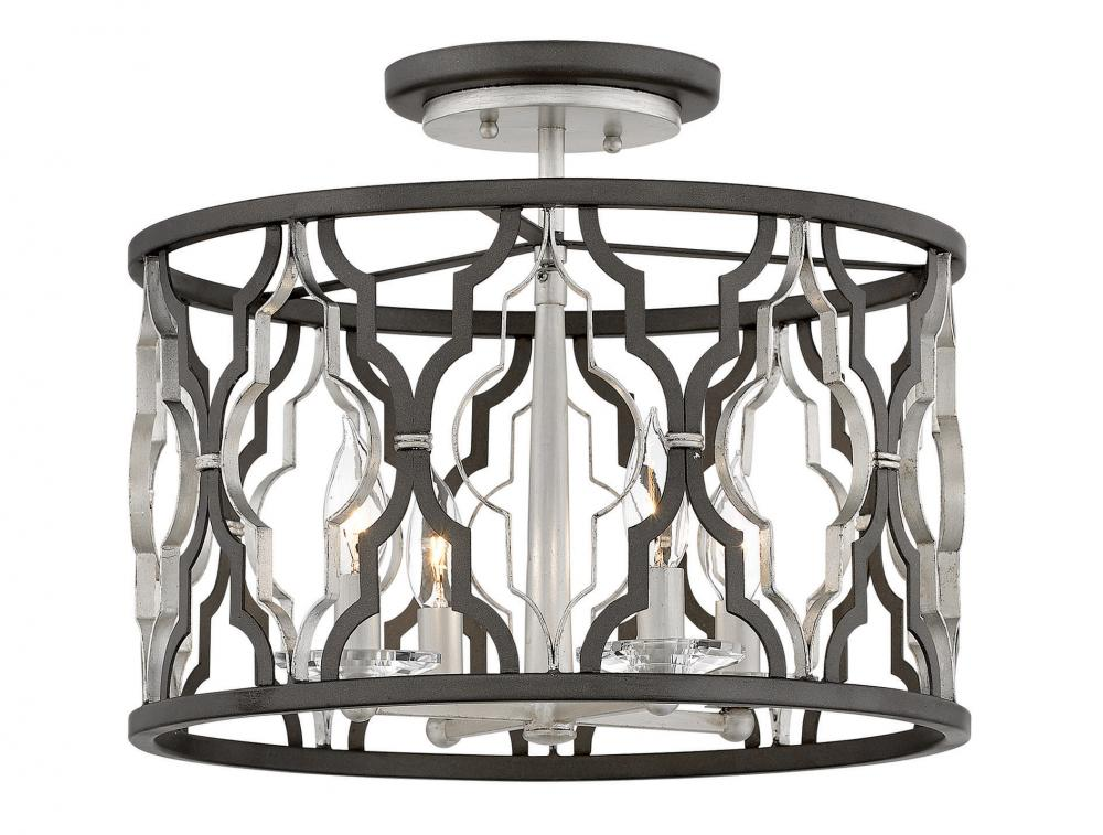 """HIN 3063GG Foyer Portico 4Lt Glacial Gold 16.0"""" W X 14.5"""" H 4-60w Candleabra Base Lamps (Not Included)"""