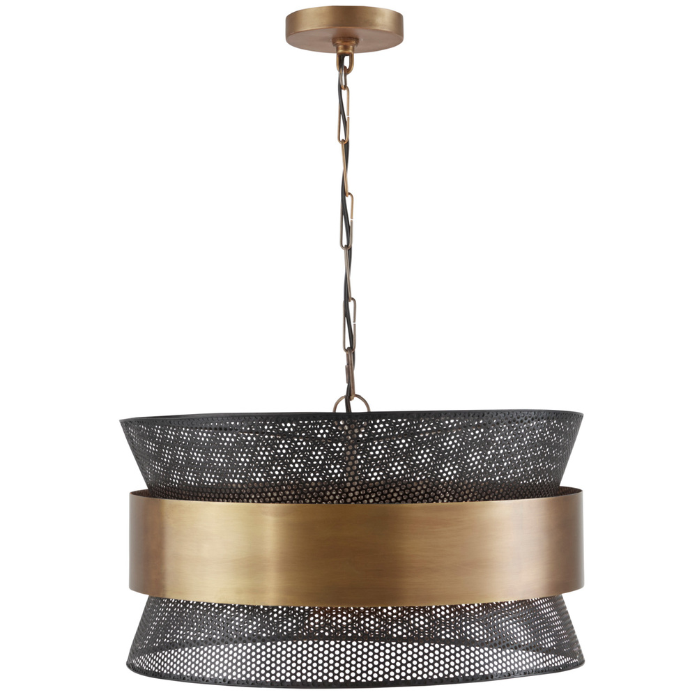 CPL 330447PK 4Lt Pendant Patinaed Brass & Black Finish NEWSTOCK AUG 2019