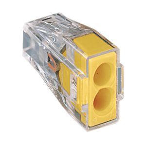WAGO 773-102/PW05-650 (JAR) 2-CONDUCTOR - YELLOW PUSH WIRE WALL-NUT