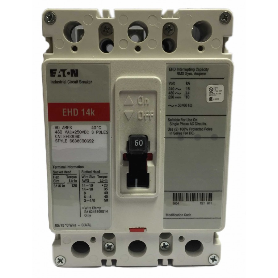 Distribution Equipment Circuit Breakers Panel Board Wiring Ch Ehd3060 60a 3p Ckt Brkr