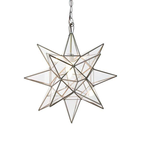 WAR ACS112 Large Clear Star Chandelier 1Lt 60W Med lamp not inlcuded NEWSTOCK DEC 2019