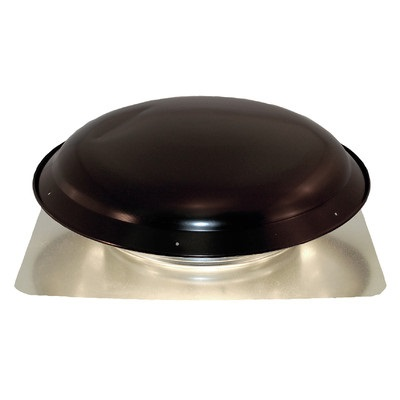 BUT VXNRGTAMBL Black 1400 CFM Roof Fan - Galvanized Steel Dome & Flashing LIFETIME WARRANTY