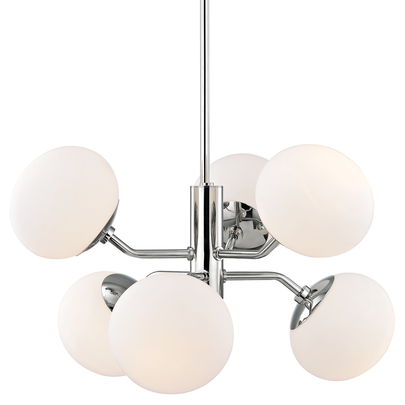 MITZI H134806-PN ESTEE CHANDELIER POLISHED NICKEL 6xE26