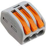 WAGO 222-413 (BOX) 3-CONDUCTOR - LEVER NUT (SOL/STR/FLEX) 50PC/BOX