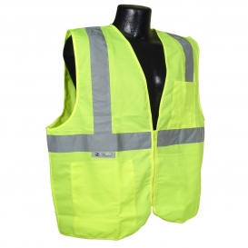 MCR VCL2MLXL X-LARGE SAFETY VEST YELLOW 2-IN SILVER STRIPE MCR SAFETY CLASS 2 POLYESTER MESH