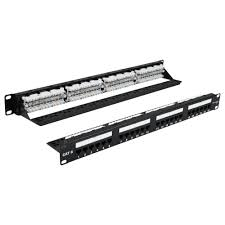 DATA 6EPP24-S 24-PORT CAT6 110-Type Patch Panel - 1U - T568A/B formerly: 6EPP24