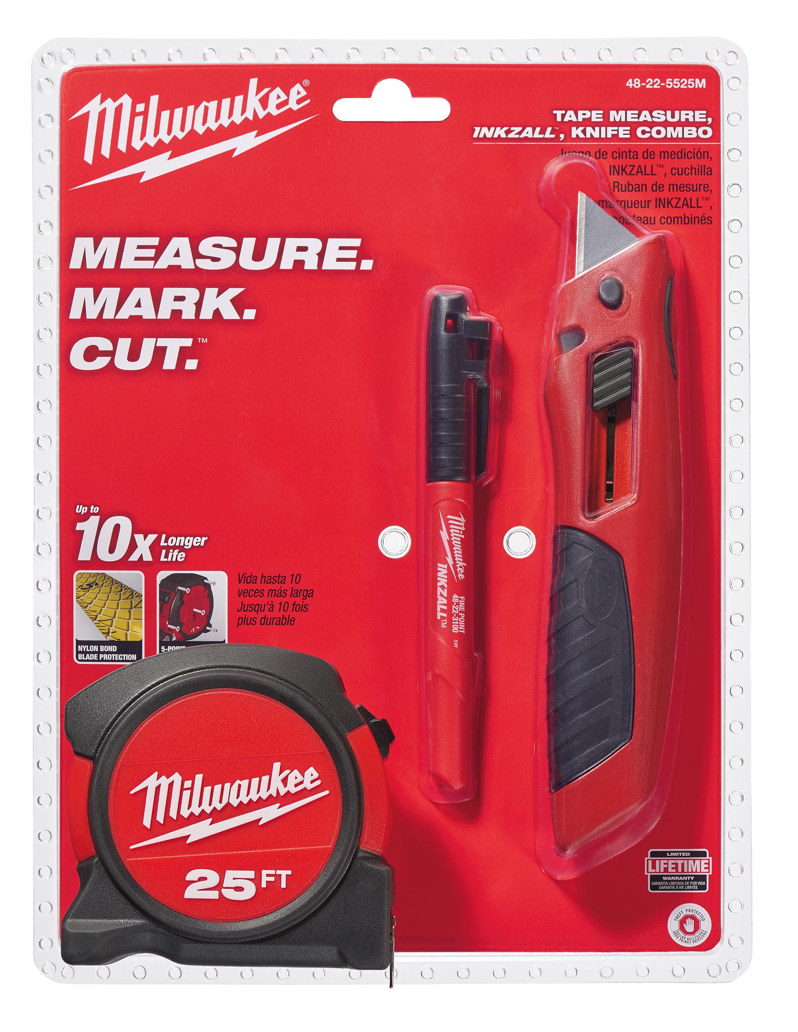 MIL 48-22-5525M KNIFE MARKER MEASURING TAPE PACK