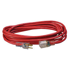 SW 2487SW8804 14/3 25' OUTDOOR EXT CORD -RED JKT LE SJTW - FORMERLY: SW 56-95-49-01 ORANGE W/BLACK STRIPE