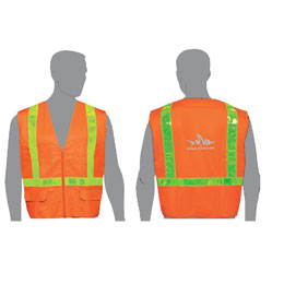 $SCR C16822-XL FLUORESCENT ORANGE SAFETY VEST CLASS 2