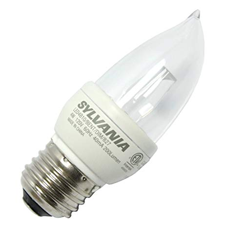 $SYL LED4B10/BENT/DIM/827 LED TORPEDO LAMP - 200LUMENS - 2700K - 15K HR RATED (25W FLAME EQUIV) CS=6 78889