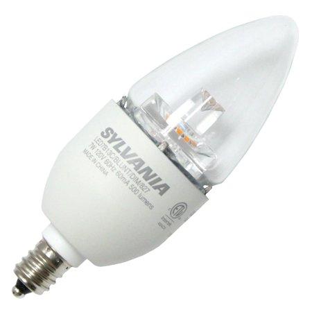 $SYL LED7B13CBLUNTDIM827 LED TORPEDO LAMP - CAND BASE - 500 LUMENS - 2700K - 15K HRS (EQUIV: 60W) CS=6 72894 ENERGY STAR DISCONTINUED BY FACT 12/16