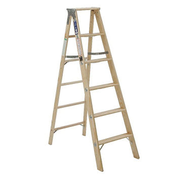 $CLD 8FT WOODEN TYPE I STEP LADDER MOD131108 CLD8FT