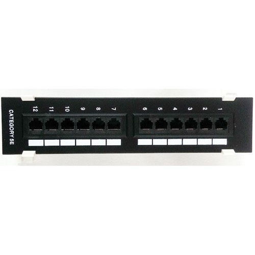 DATA 5EPP12-V 12-PORT VERTICAL PATCH PANEL