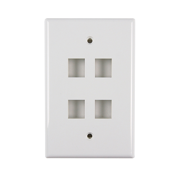 DATA FP04PWH 4-PORT FACE PLATE WHITE