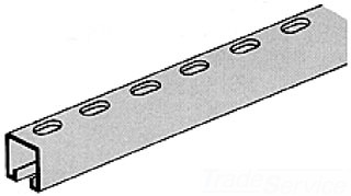 G-STRUT G 582 OS 1 HDG STRUT 12GA SLOTTED HOLES 10' 1-5/8X1-5/8 #7 HOT DIP GALVANIZED UNISTRUT P1000T-10HG