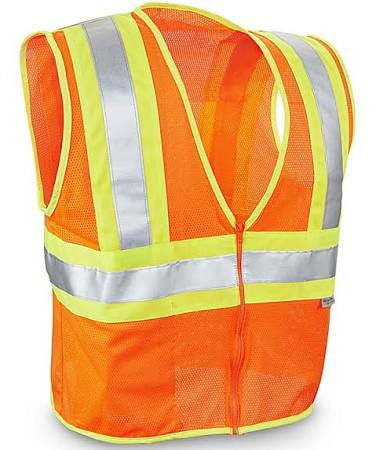 $SCR 16240 FLUORESCENT ORANGE ONE SIZE FITS ALL SAFETY VEST